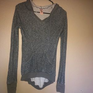Women's sweater with a hood